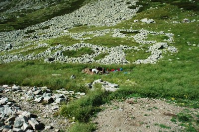 Treballs a l'ocupació romana a Coma de Vaca.