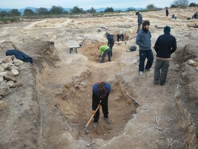 Conjunt de dipòsits o basses trobat al jaciment ibèric dels Rabassats a Nulles.