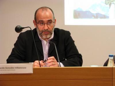 Ricardo González durant la seva conferència, el 15 de febrer a l'ICAC.