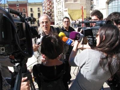 Josep M. Macias durant la roda de premsa.