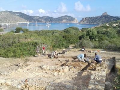 Treballs d'excavació. Foto: M. Riera.