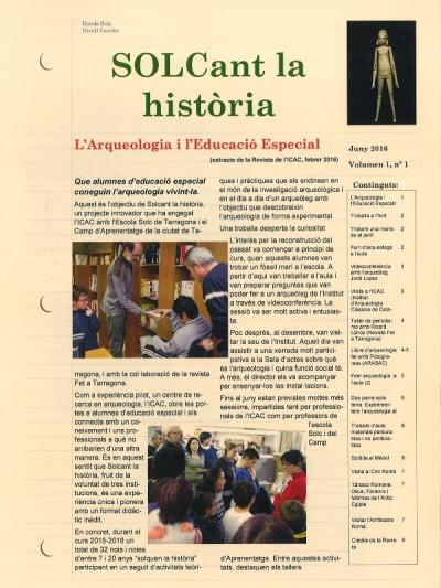 Coberta de la revista resultant del projecte.