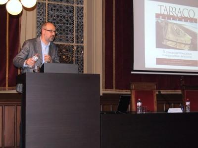 Joan Gómez Pallarès, en la conferència inaugural. Foto: FPMC.