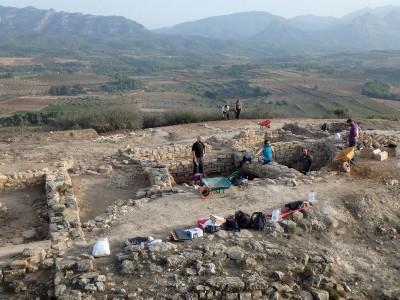 Vista general dels treballs de la campanya d'enguany.