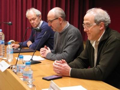 Inauguració del seminari, en el moment de presentar-lo el director de l'ICAC, Joan Gómez Pallarès.