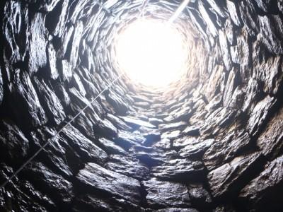 Vista des de l'interior del pou.