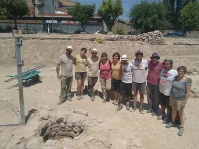 L'equip d'excavació de muralla i pou.
