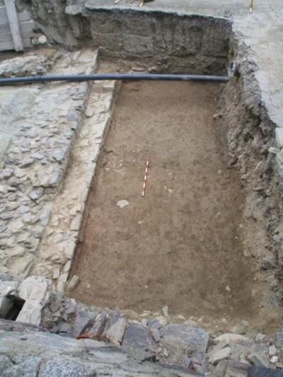 Extrem sud en un moment de la seva excavació.
