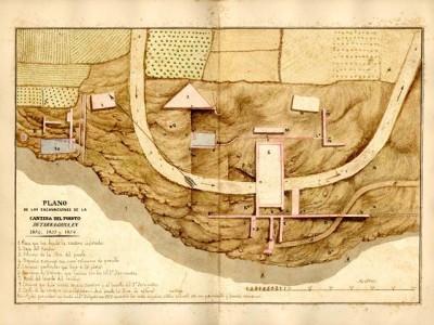 Planta general de les excavacions de la pedrera (1853-1856).