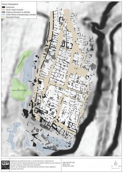 Estructura urbana i sistema defensiu del jaciment ibèric de les Masies de Sant Miquel (Banyeres del Penedès).