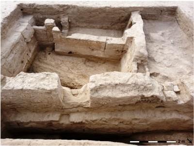 Cel·la monàstica budistes que va excavar Martínez el 2010.
