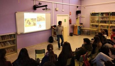 La investigadora Lídia Colominas, en un momento de su presentación