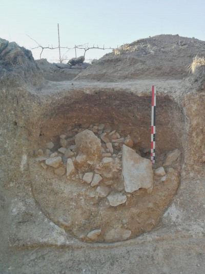Una de les sitges en procés d'excavació. Foto: ICAC
