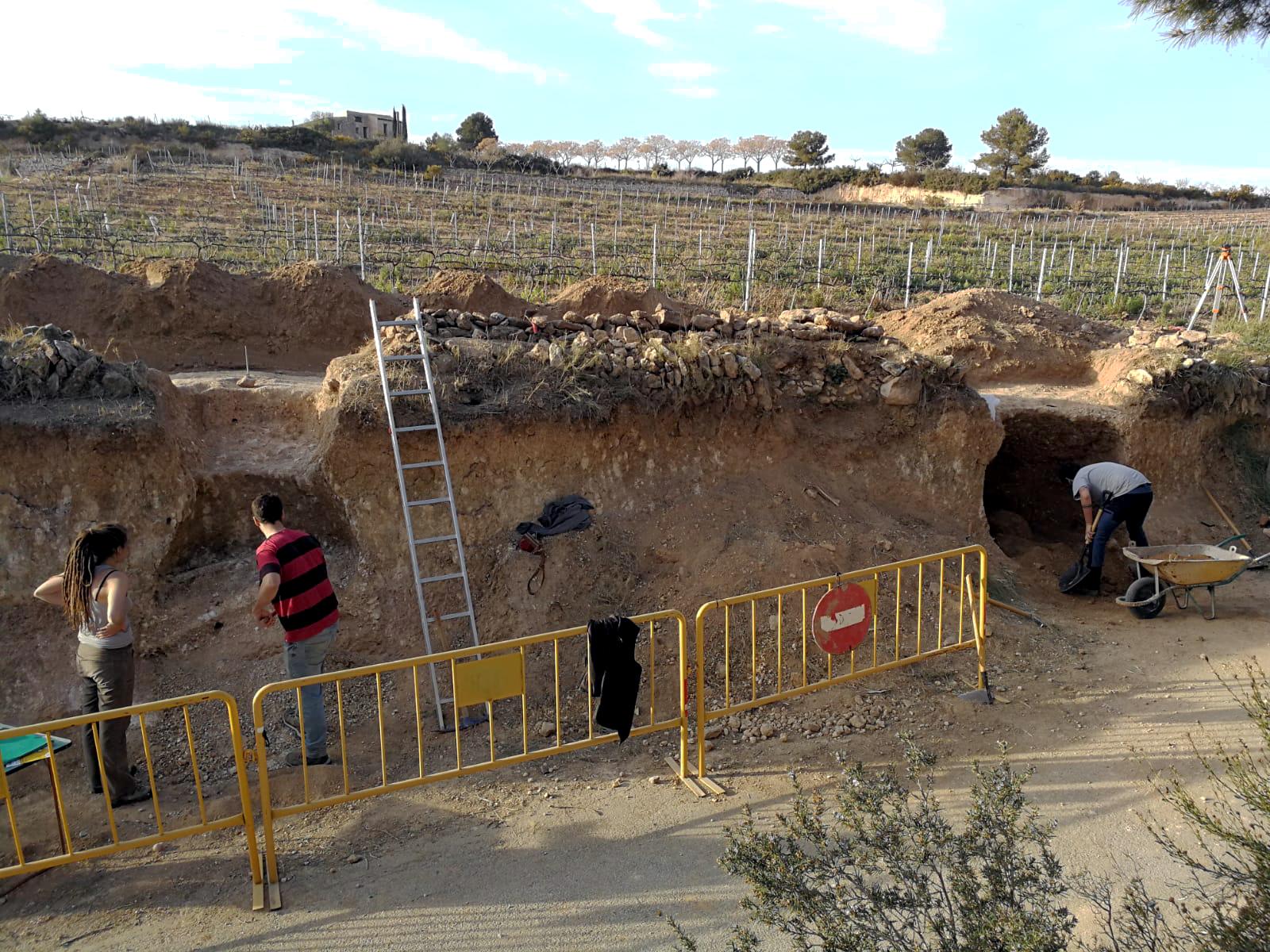 Treballs d'excavació al jaciment Mas Cap de Ferro. Foto: ICAC