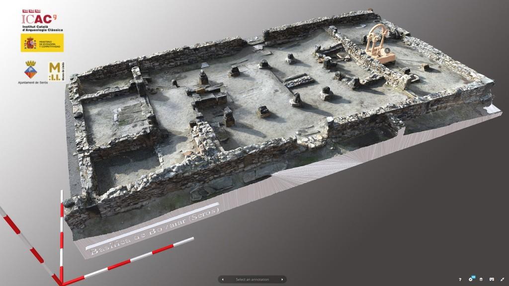 Imatge del model 3D de la basílica paleocristiana