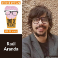 L'investigador Raúl Aranda al Festival Pint of Science 2019