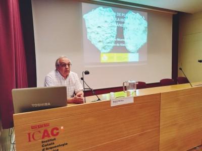 Igancio Montero al IV Seminari en Epigrafia i Arqueometria de l'ICAC de Institut Català d'Arqueologia Clàssica està subjecta a una llicència de Reconeixement-NoComercial-CompartirIgual 4.0 Internacional de Creative Commons