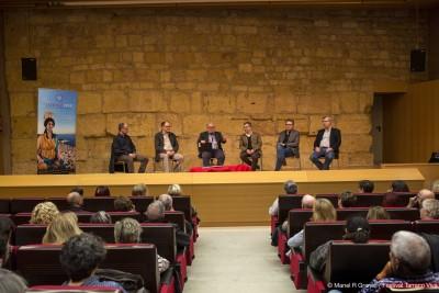 D'esquerra a dreta, Josep Maria Palet, Jesús Carruesco, Magí Seritjol, Ricardo Mar, Enric Calpena i Joaquin Ruiz de Arbulo (foto: Manel Granell)