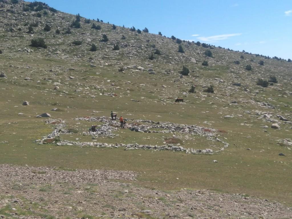 Jaciment de coll de Mulleres I, Meranges. Sota el Puig Pedrós, 2.450 m. Foto: Josep M. Palet