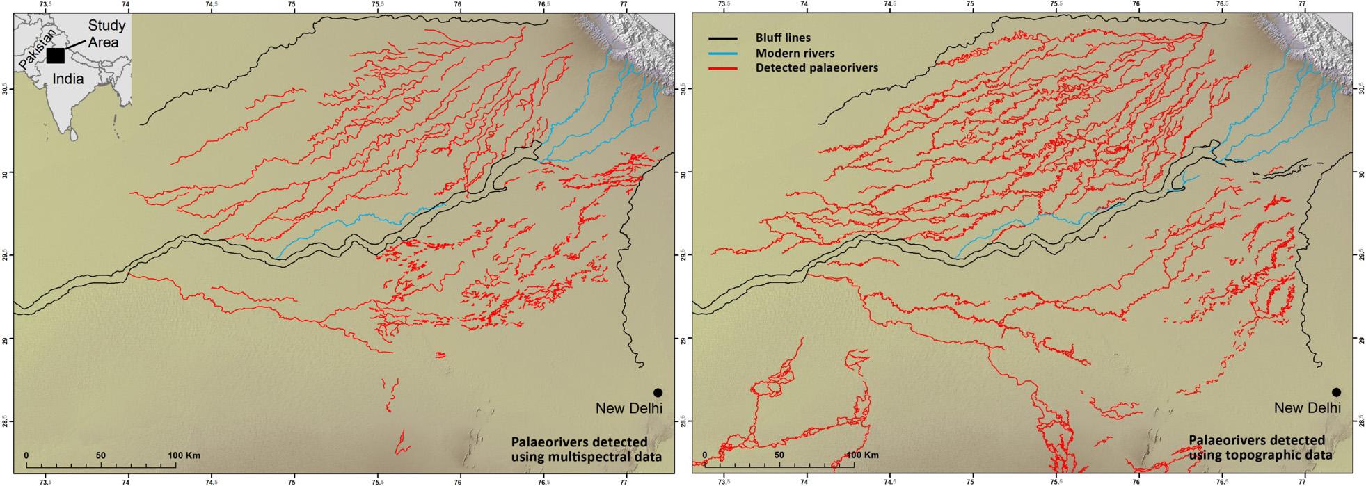Detecció de paleorius mitjançant dades multiespectrals (Orengo and Petrie, 2017 & 2018)