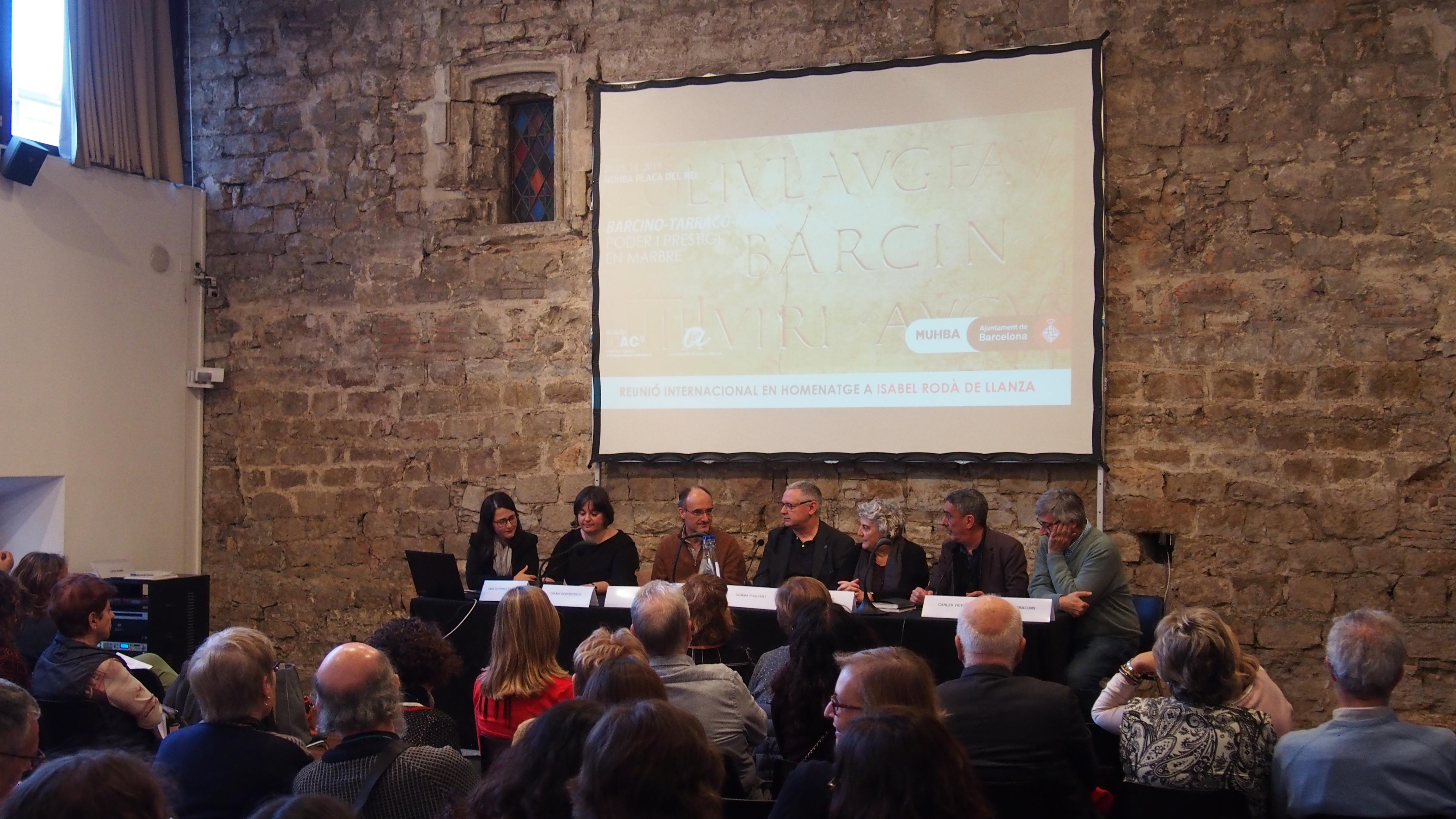 Acte inaugural de la Reunió Internacional Barcino-Tarraco-Roma (@ ICAC)