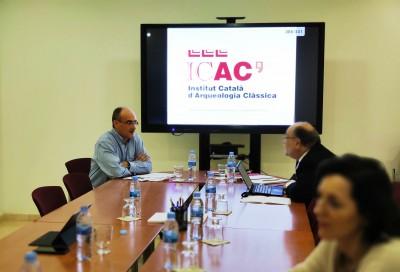 Josep M. Palet (esq.) en la reunió del Consell de Direcció 19/12/19 (@ ICAC)