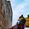 Treballs de documentació fotogramètrica a la torre del Petrori de Tarragona