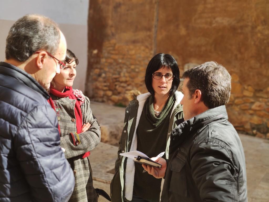 Palet, Livarda i Colominas, amb Pep Sunyé, durant la gravació del programa (© ICAC)