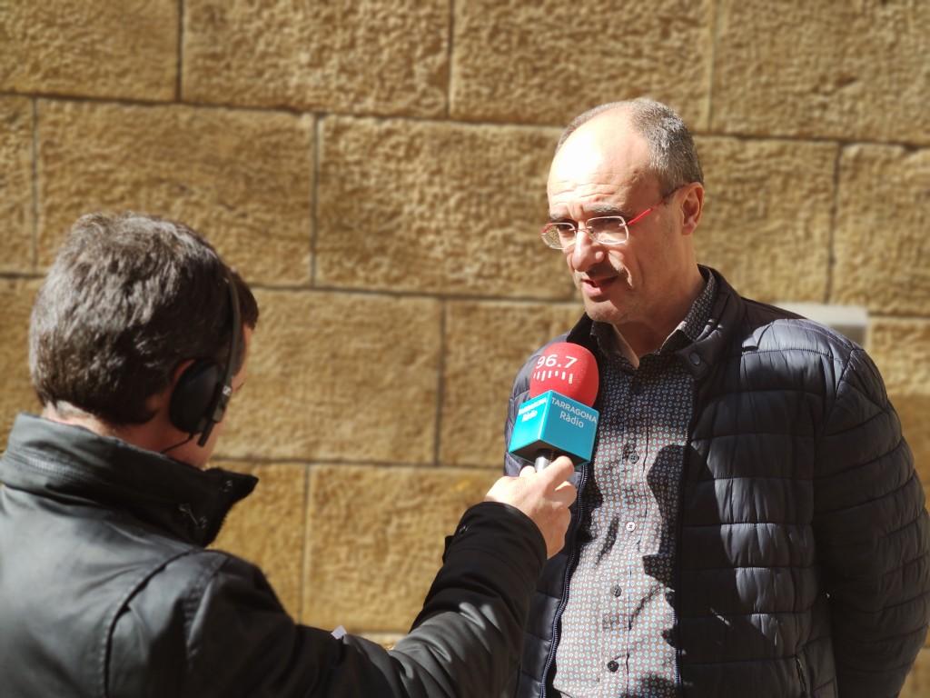Pep Sunyé (esquerra) amb Josep Maria Palet , durant la gravació del programa (© ICAC)