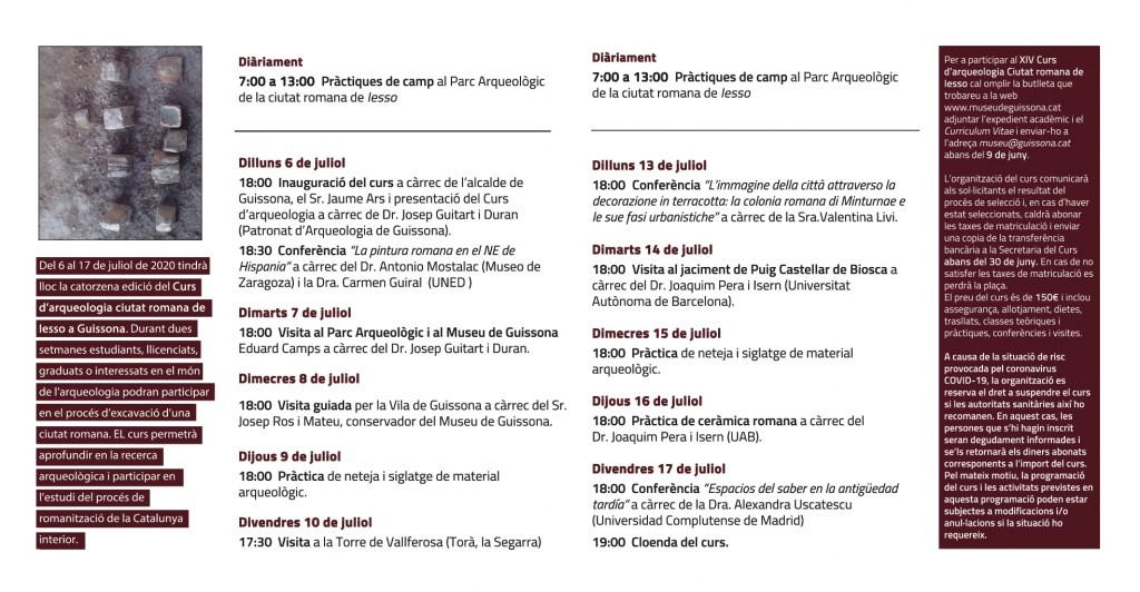 CURS ARQUEOLOGIA IESSO 2020_Programa_p2