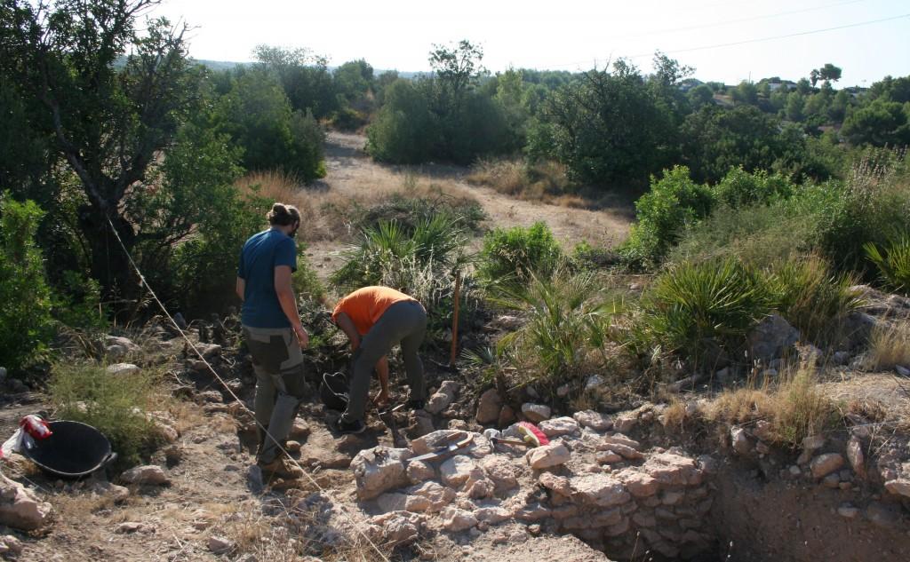 """Treballs d'excavació arqueològica al jaciment de València """"la Vella"""" (2020). Foto: ICAC."""