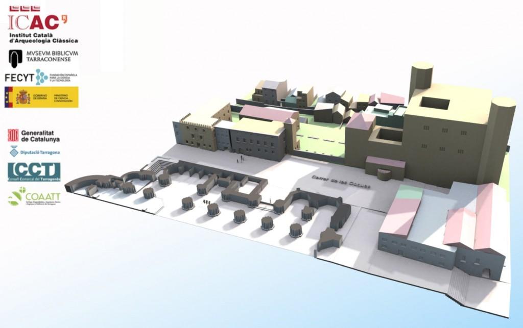 Model 3D, reconstrucció arquitectònica de la Part Alta de Tarragona en època renaixentista. Foto: ICAC.