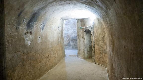 Imatge de les galeries del subsol. Foto: Arquebisbat de Tarragona, Santi Grimau.