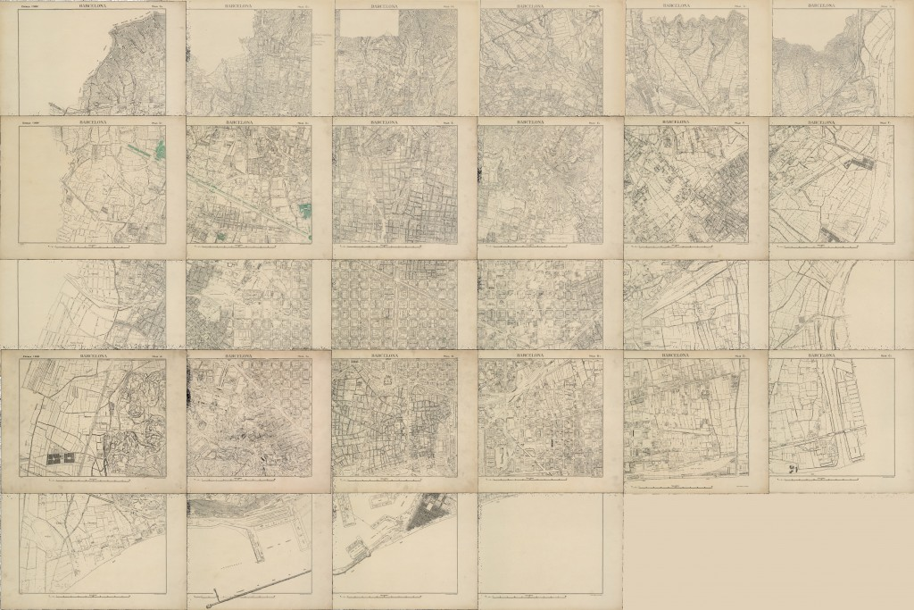 Base cartogràfica de V. Martorell dels anys trenta georeferenciada. Imatge: Hèctor A. Orengo (GIAP-ICAC).