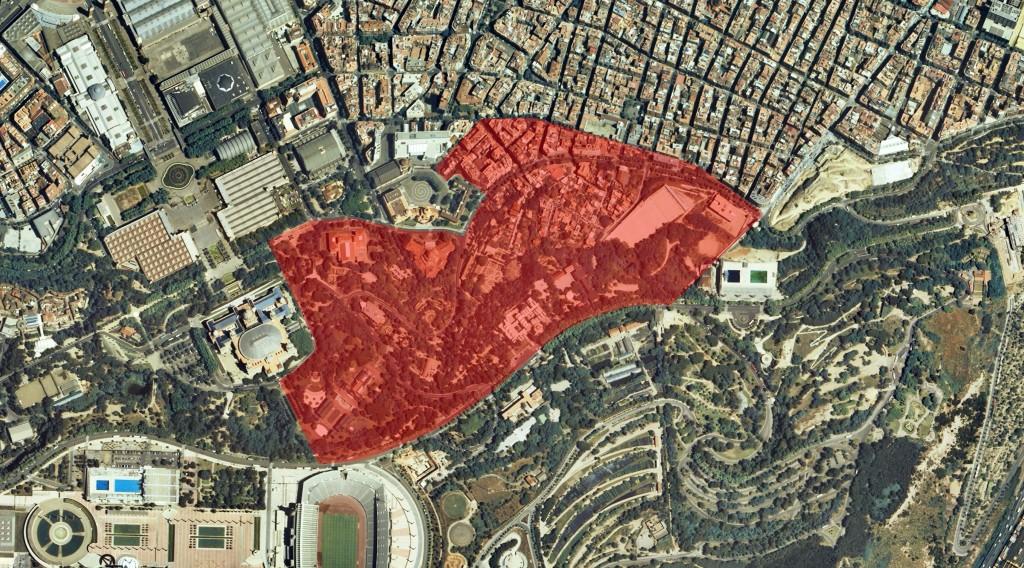 Delimitació de la zona estudiada sobre el terreny. Imatge: Hèctor A. Orengo (GIAP-ICAC).