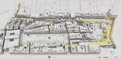 Circ romà de Tarragona. Mostra model mapa de punts obtingut a partir de l'escàner làser. IMatge: ICAC.