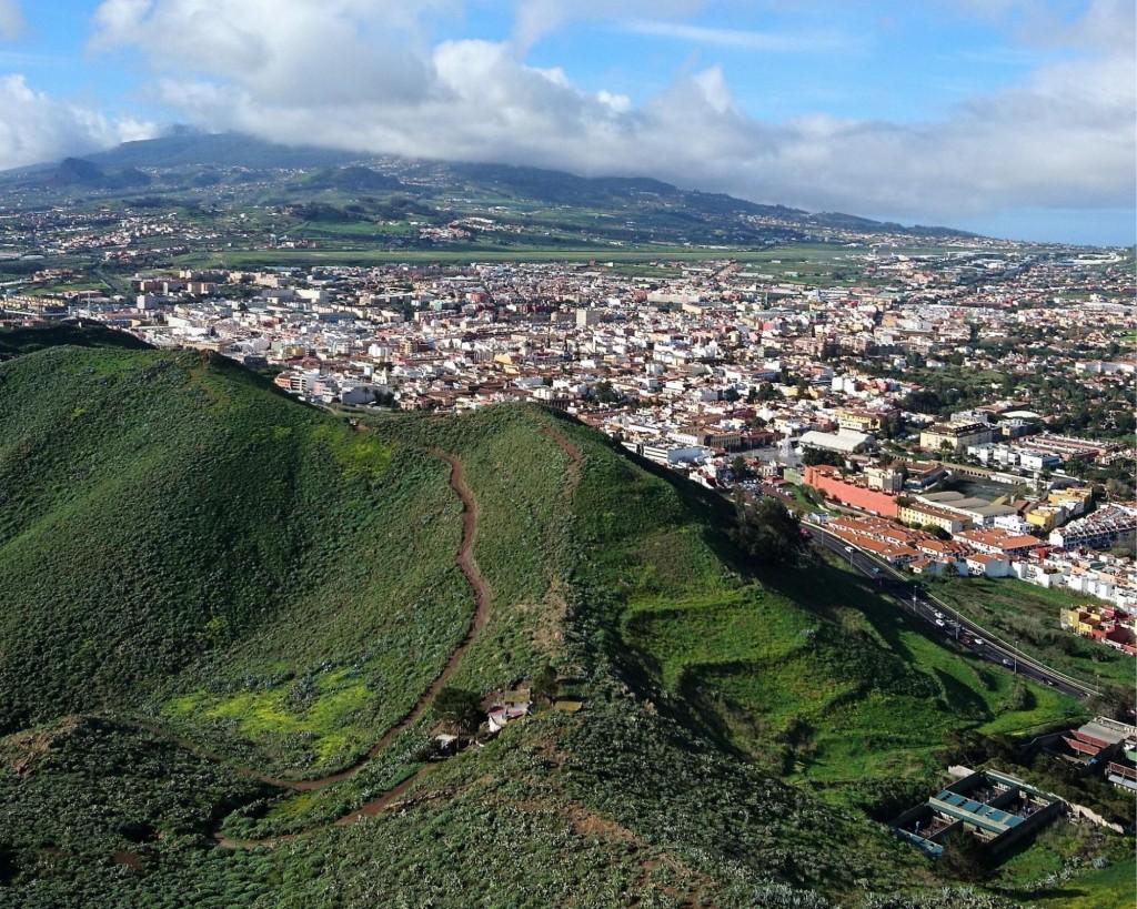 View of San Cristóbal de La Laguna from a historical beacon station.