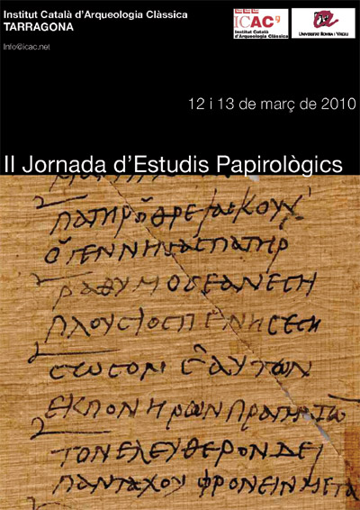II Jornada d'Estudis Papirològics