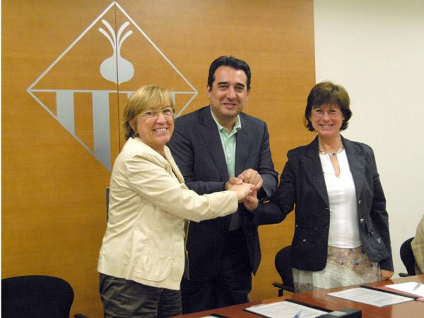 Signatura conveni Sant Pau de Riu-sec