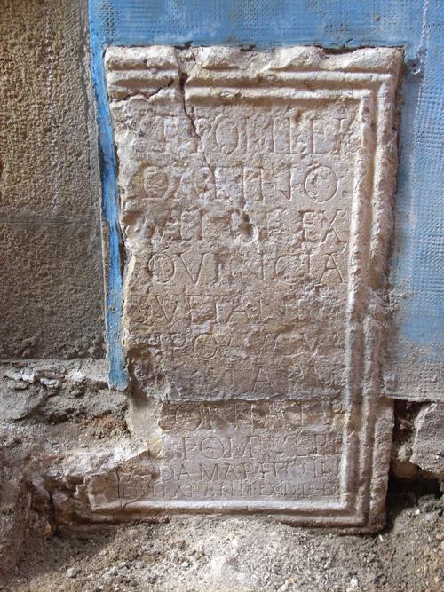 Inscripció Pompeu Sedatí