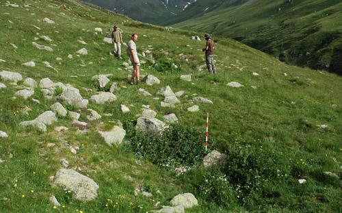 Treballs de registre arqueològic a Coma de Vaca