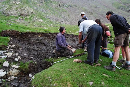 Treballs paleocològics a la Vall de Núria