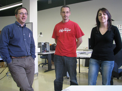 Josep M. Puche, Iñaki Matías i Paloma Aliende