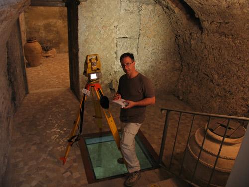 Treballant al soterrani del convent de Sta. Susanna (Roma)