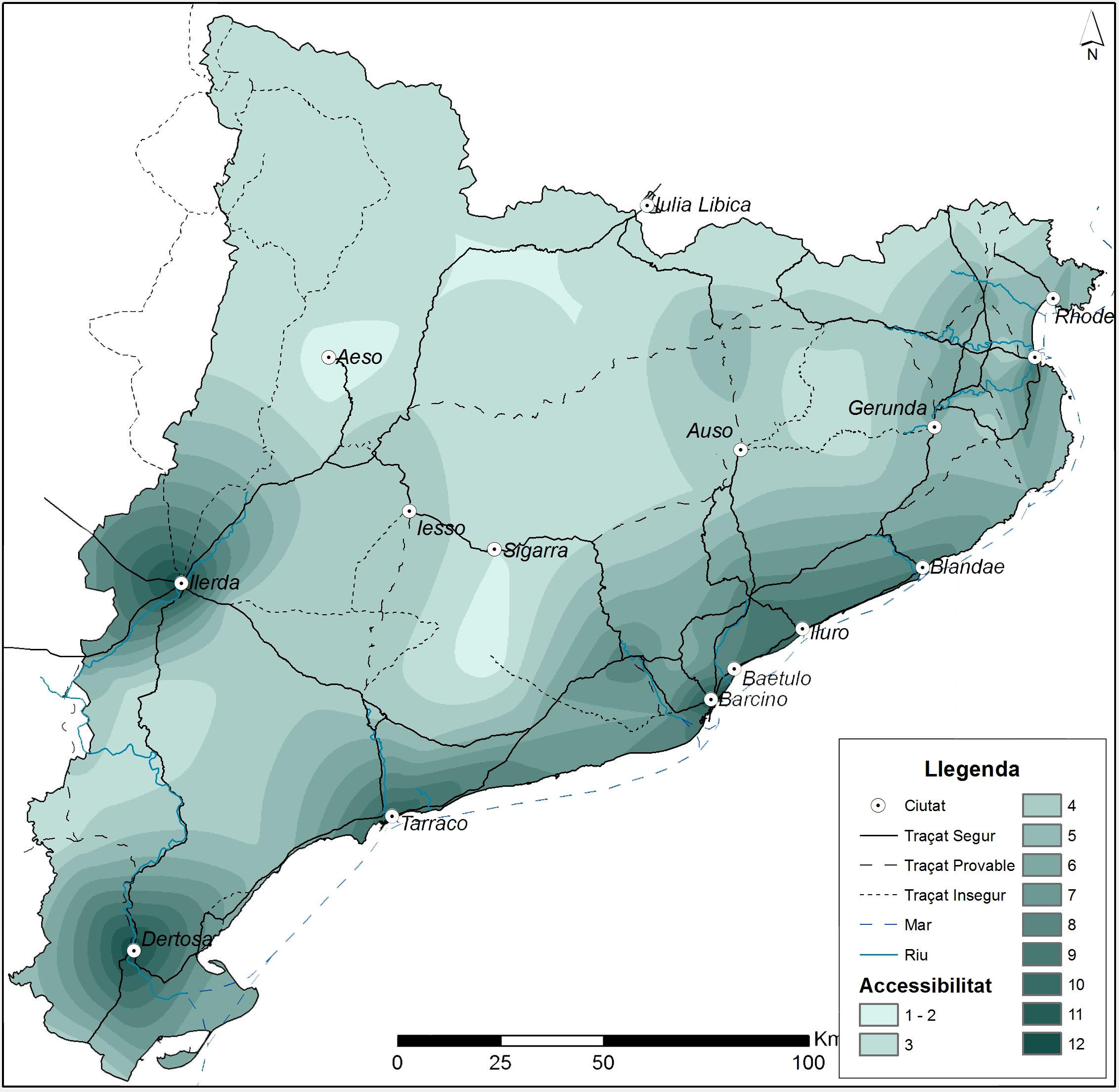 Anàlisi de l'accessibilitat del territori català