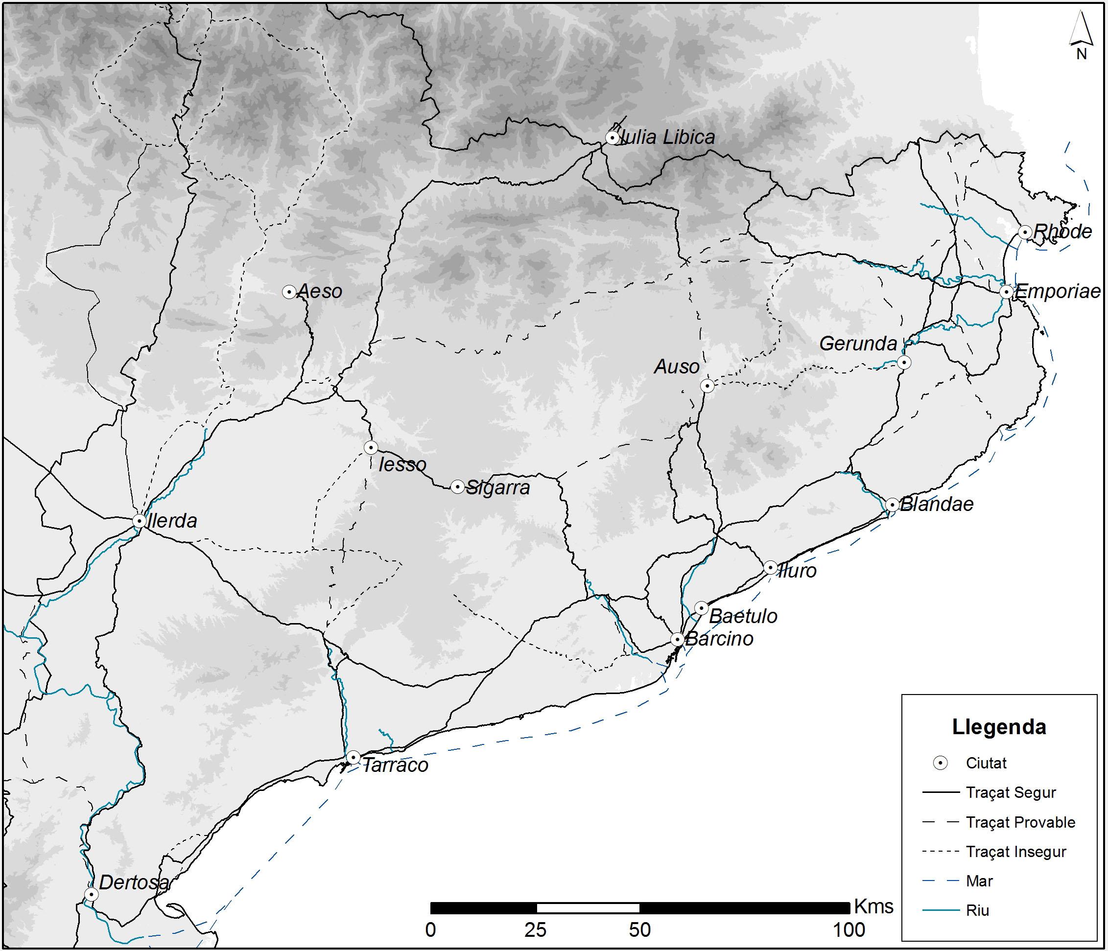 La xarxa de comunicacions a la Catalunya romana