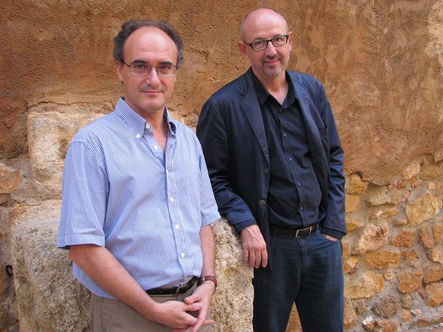 Josep Maria Palet (esquerra) i Joan Gómez Pallarès el 2013.