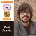 L'investigador Raúl Aranda al Festival Pint of Science 2019