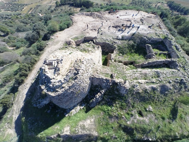 Vista àeria del jaciment de Coll del Moro  J. Noguera