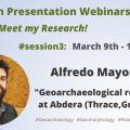 Research Presentation Webinars – Session#3: Alfredo Mayoral